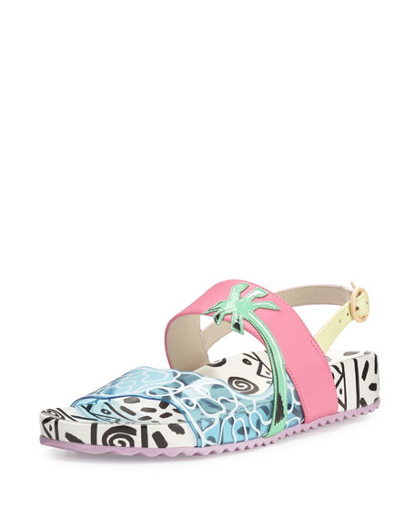 Sophia Webster Becky Malibu Colorblock Sandal, Multi
