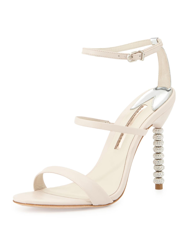 36e3cb32d Sophia Webster Rosalind Crystal-Heel Leather Sandal