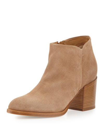 Anzio Suede Ankle Bootie, Sahara