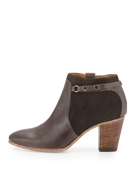 Evina Suede/Leather Bootie, Forged Iron