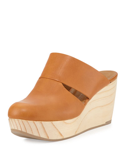 Hazel Cutout Slip-On Clog, Caramel