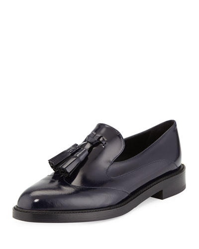 Halsmoor Prorsum Leather Loafer, Ink Blue