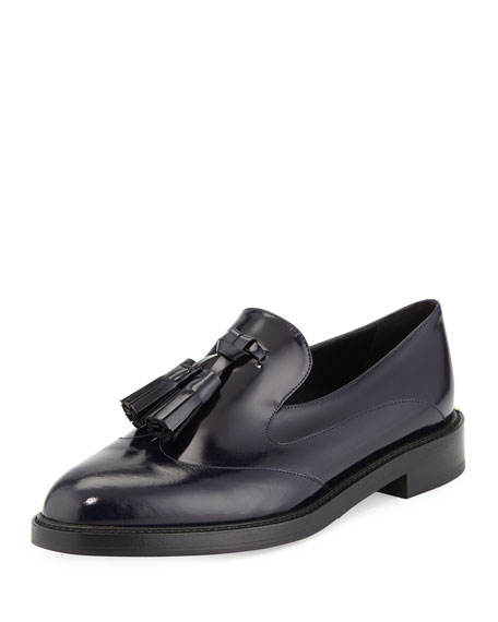 Burberry Halsmoor Prorsum Leather Loafer, Ink Blue