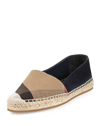Hodgeson Check-Canvas Espadrille, Navy
