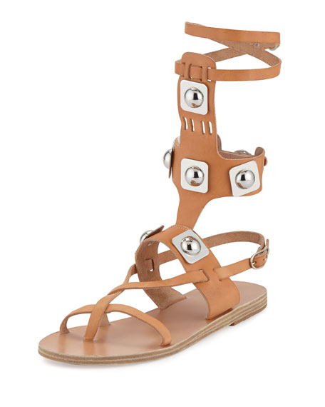 Ancient Greek Sandals Peter Pilotto Low Studded Leather