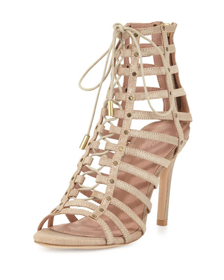 Joie Rhoda Caged Gladiator Sandal, Saglia
