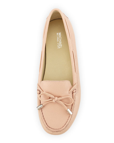 Daisy Pebbled Leather Moccasin, Ballet