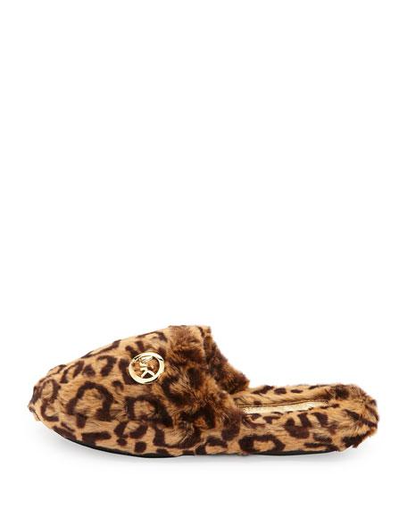 MICHAEL Michael Kors Jet Set Faux-Fur Slipper, Cheetah/Natural