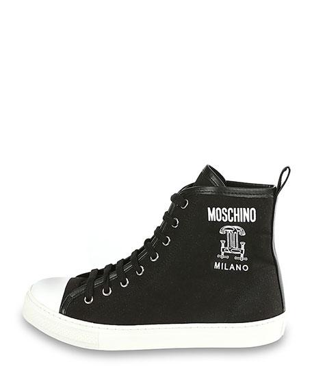 Runway Capsule High-Top Sneaker, Fantasy Print Black