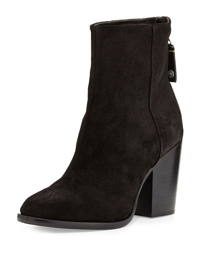 Ashby Suede Ankle Boot, Black