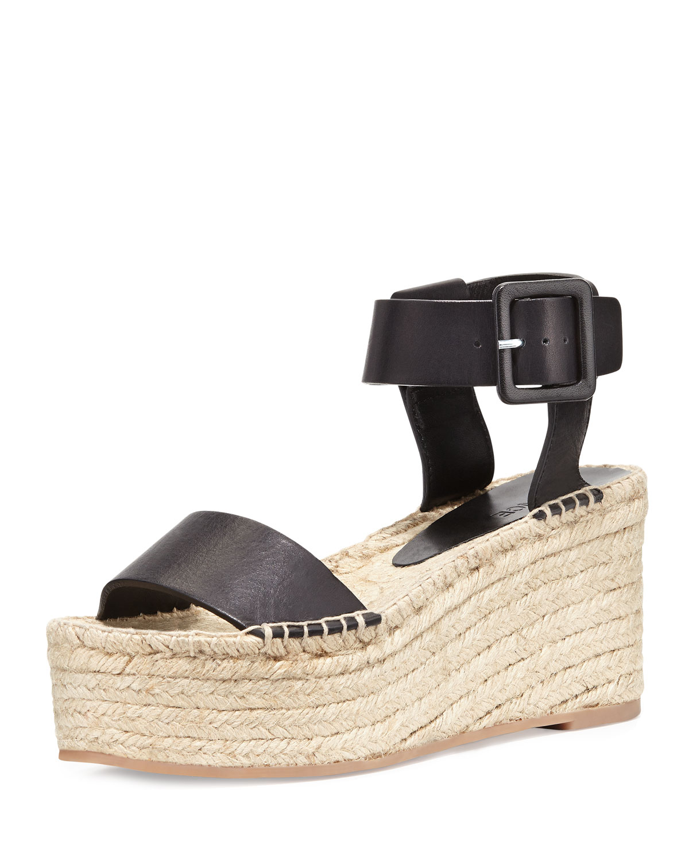 449ca5136 Vince Abby Platform Espadrille Sandal, Black | Neiman Marcus