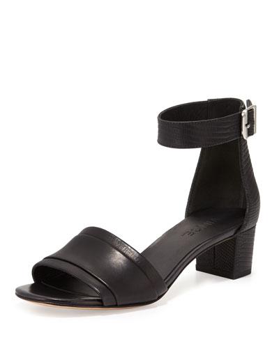 Raine Leather City Sandal, Black