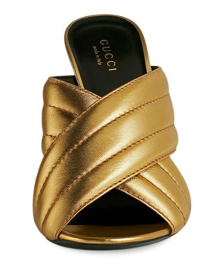 Webby Metallic 110mm Sandal, Oro