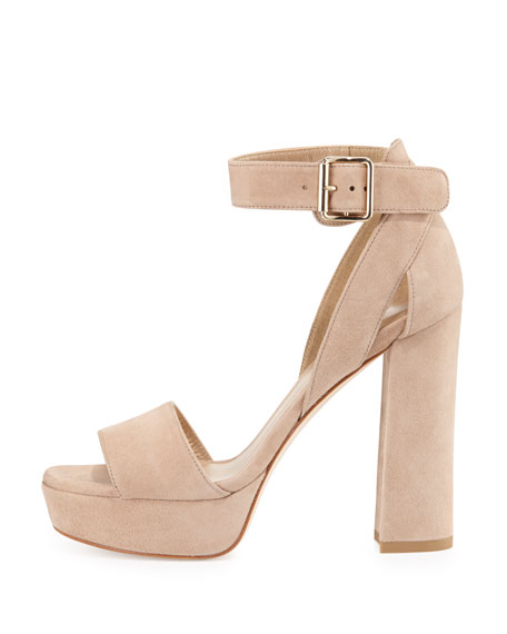 Stuart Weitzman Suede Slingback Platform Sandals buy cheap recommend extremely cheap price low shipping cheap online sale shop w5KXzHcIp