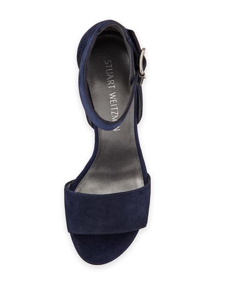 Mostly Suede Platform Sandal, Nice Blue