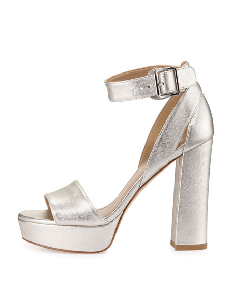 Mostly Platform Leather Sandal, Pearl