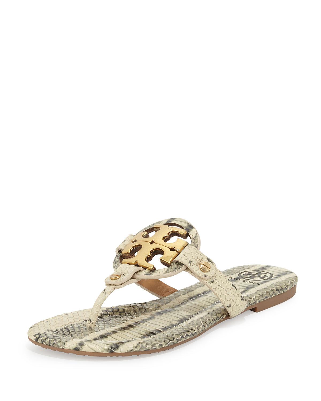 621c24ebdadb Tory Burch Miller 2 Snake-Print Cork Sandal