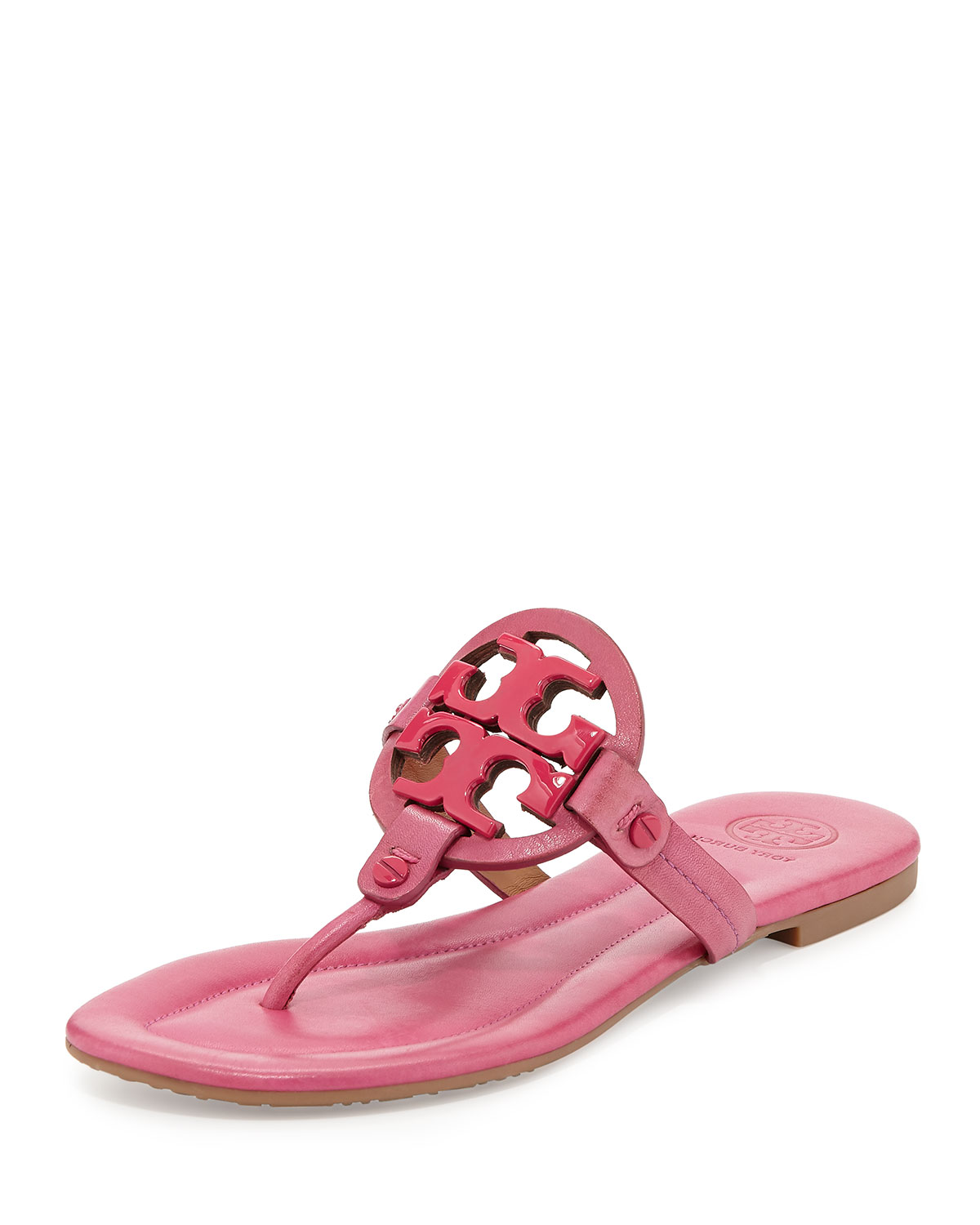 ff9b12e58 Tory Burch Miller 2 Logo Leather Sandals