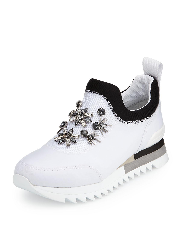 7c1efbc5d40 Tory Burch Rosas Embellished Runner Sneaker