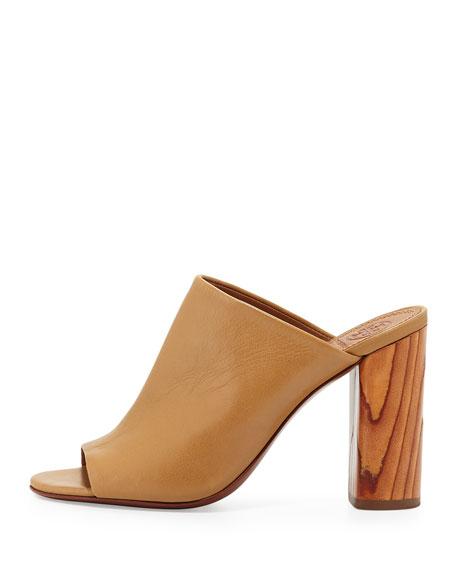 Tory Burch Raya Leather Mule Sandal, Sand
