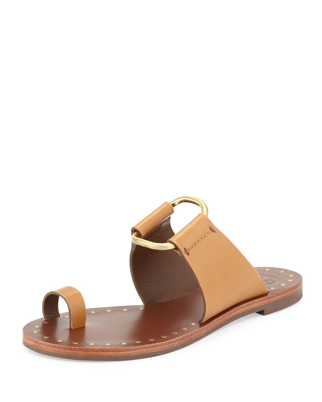 68e8e77158c9 Tory Burch Brannan Studded Toe-Ring Sandal