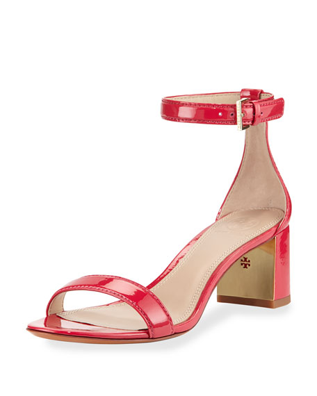 Tory Burch Cecile Patent City Sandal, Orchid Pink