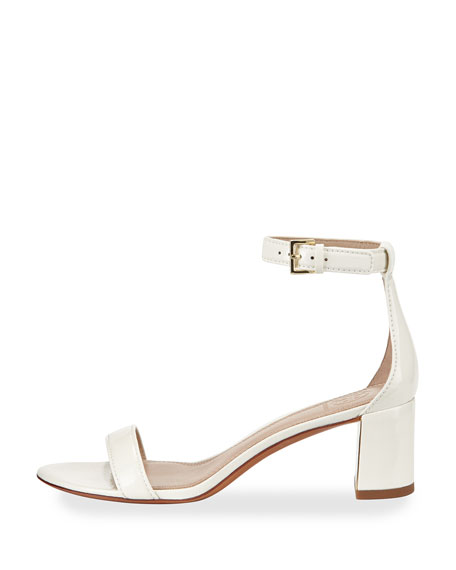 Cecile Patent City Sandal, Ivory