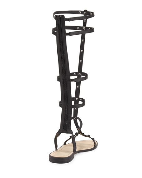 Giselle Studded Gladiator Sandal, Black