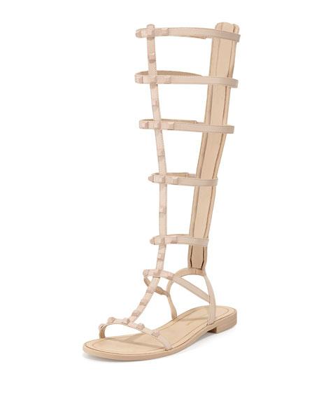 Rebecca Minkoff Giselle Studded Gladiator Sandal, Nude