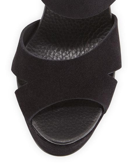 Pedro Garcia Teilor Suede Platform Sandals