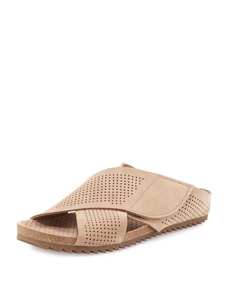 Pedro Garcia Alena Perforated Flat Sandal, Sirocco