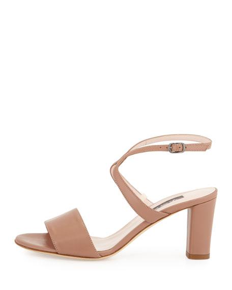 Harmony Leather City Sandal, Brown