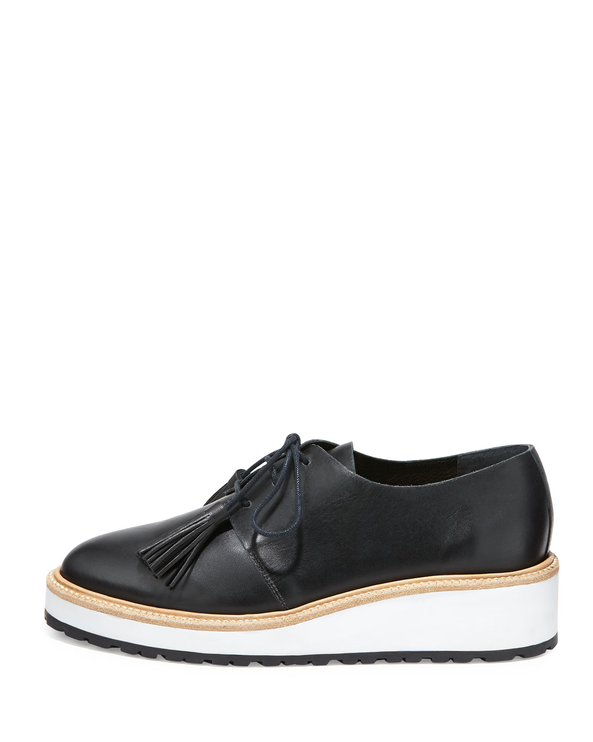537bf0971f8 Callie Leather Demi-Wedge Oxford, Black