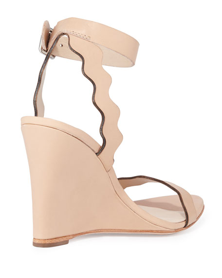 Piper Curvy Wedge Sandal, Natural