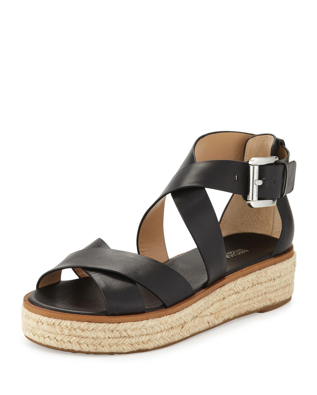 4b44869b4bb MICHAEL Michael Kors Darby Leather Crisscross Sandal