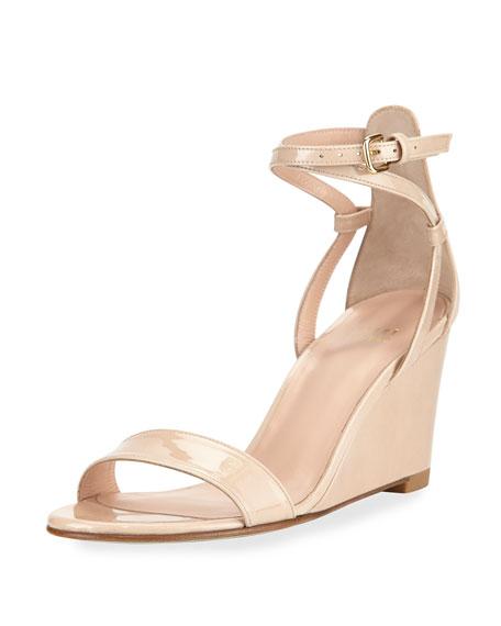 Backdraft Patent Wedge Sandal, Bambina