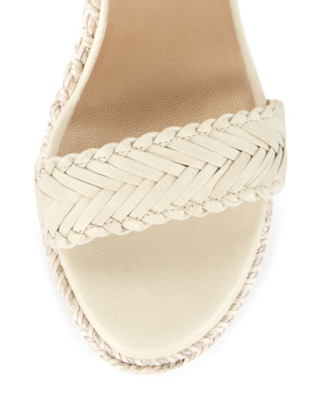 Elixir Braided Leather Wedge Sandal, String