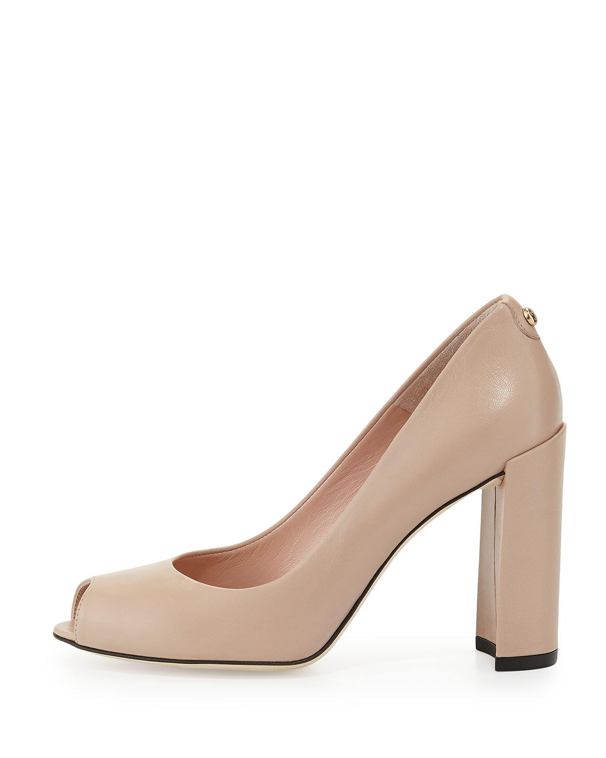 Stuart Weitzman Buttoni Cap-Toe Pumps