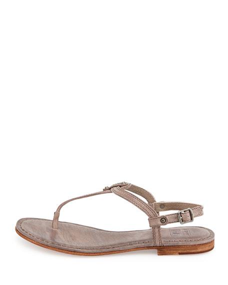 Frye Carson Leather Thong Sandal Gray