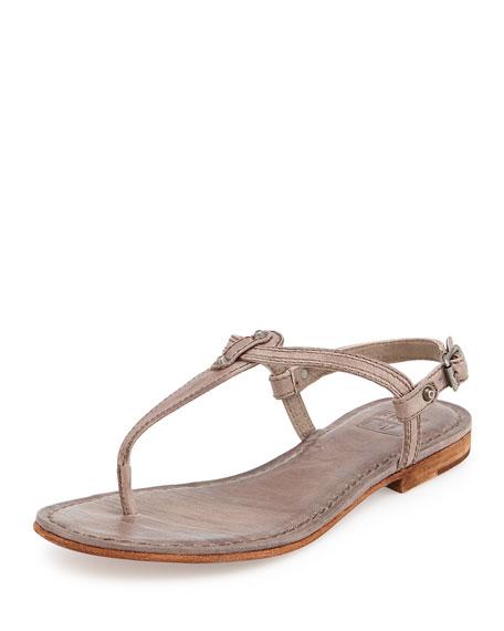 Frye Carson Leather Thong Sandal, Gray