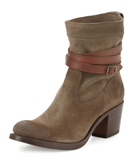 Frye Jane Strappy Short Boot, Fatigue
