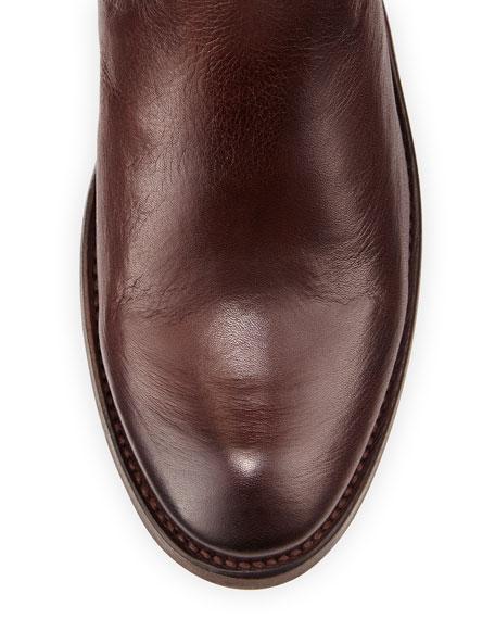 Shirley Rivet Tall Boot, Dark Brown