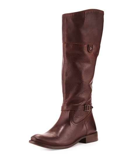 Frye Shirley Rivet Tall Boot, Dark Brown