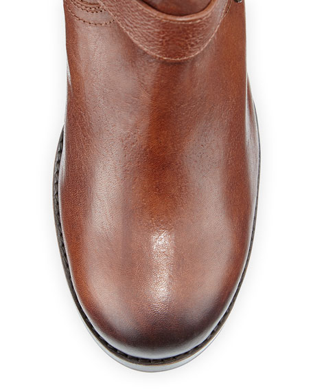 Vera Buckle Leather Knee Boot, Copper