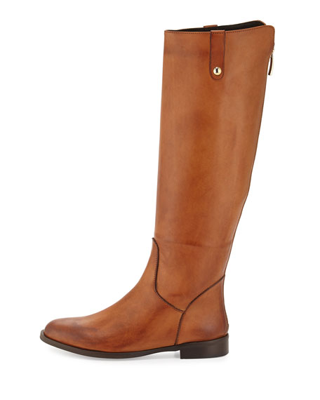 Jola Leather Knee Boot, Cognac