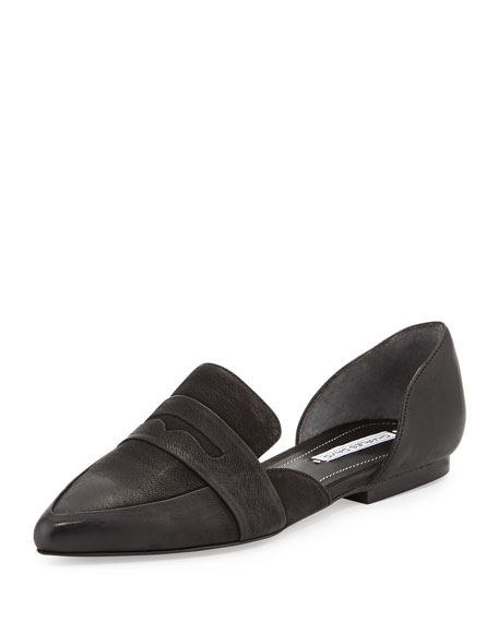 Charles David Kitty Leather d'Orsay Loafer, Black