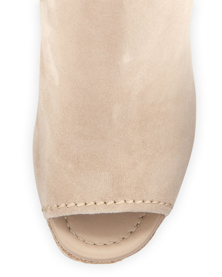 Suede Open-Toe Espadrille Sandal, Quartz (Quarzo)