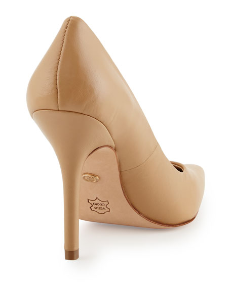 Sway II Leather Pointed-Toe Pump, Camel