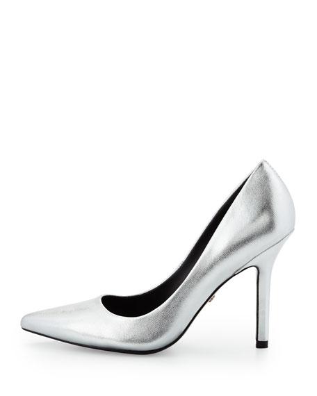 Sway II Metallic Pointed-Toe Pump, Silver