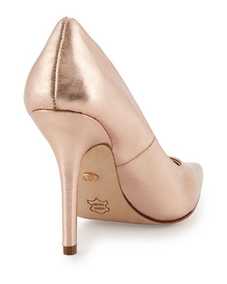 Sway II Metallic Pointed-Toe Pump, Rose Gold